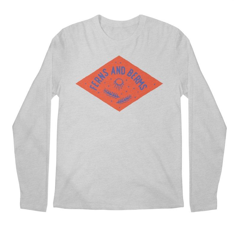 Ferns and Berms Diamond Men's Regular Longsleeve T-Shirt by Broken & Coastal