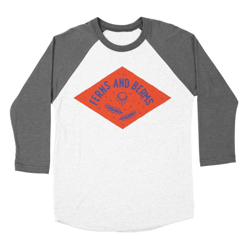 Ferns and Berms Diamond Women's Baseball Triblend Longsleeve T-Shirt by Broken & Coastal
