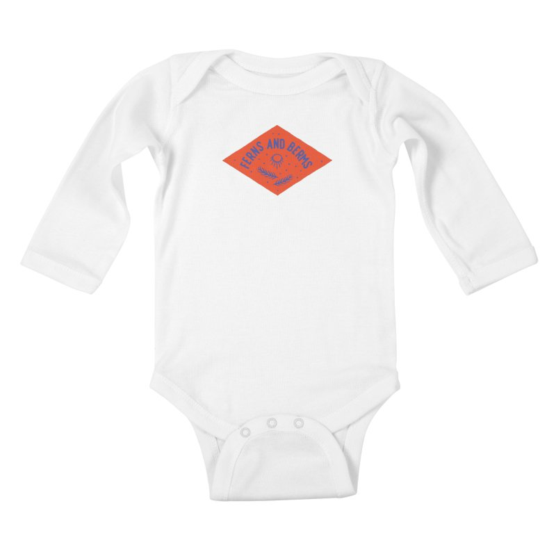 Ferns and Berms Diamond Kids Baby Longsleeve Bodysuit by Broken & Coastal