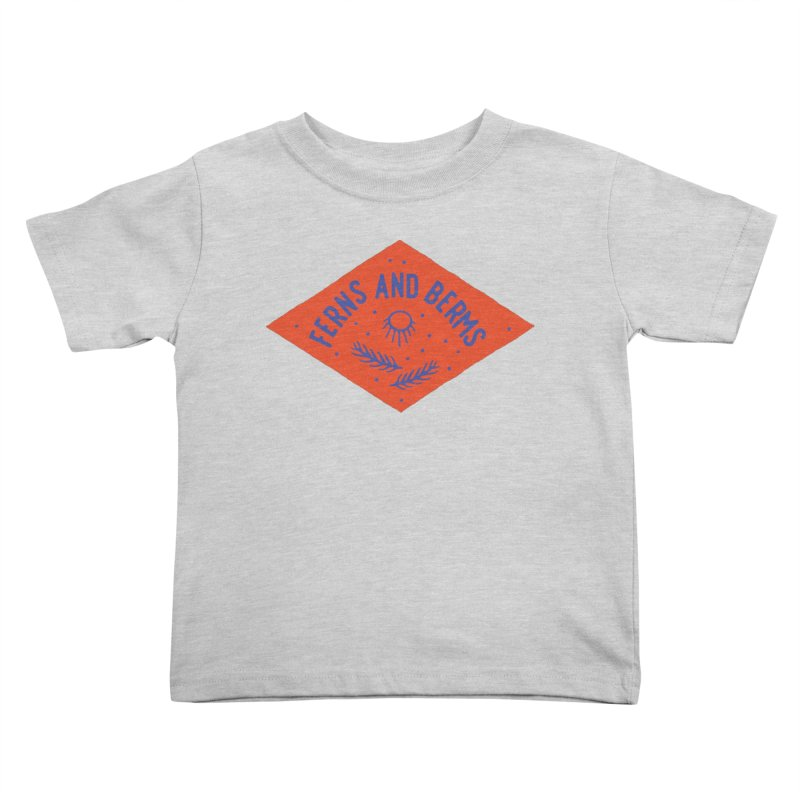 Ferns and Berms Diamond Kids Toddler T-Shirt by Broken & Coastal