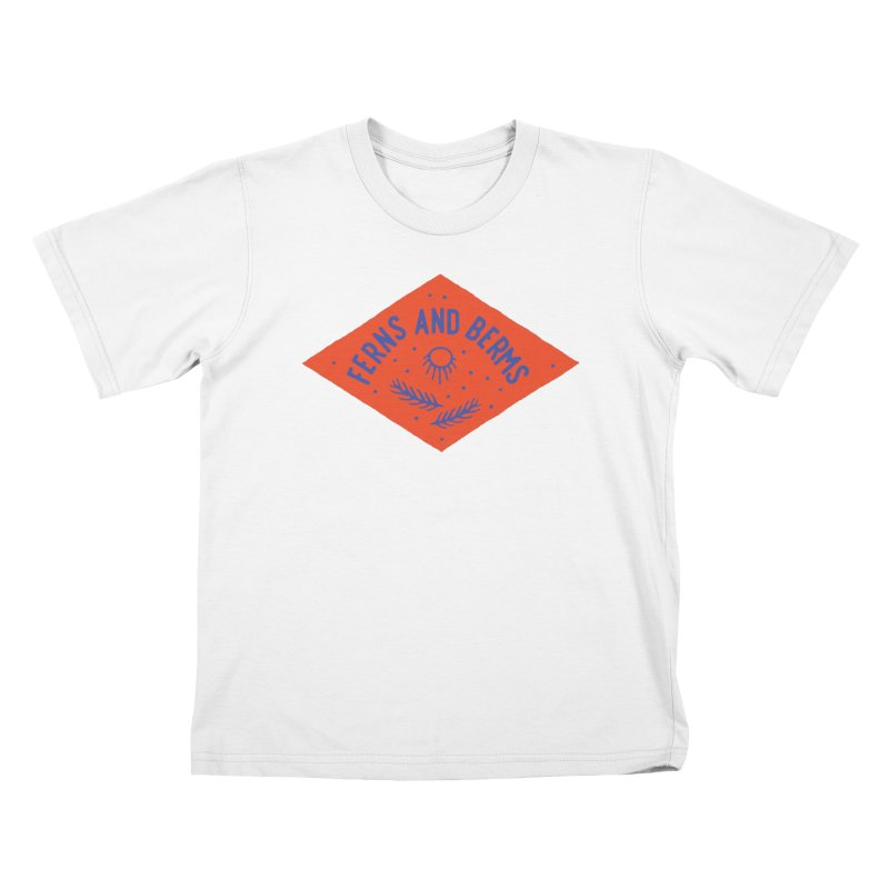 Ferns and Berms Diamond Kids T-Shirt by Broken & Coastal
