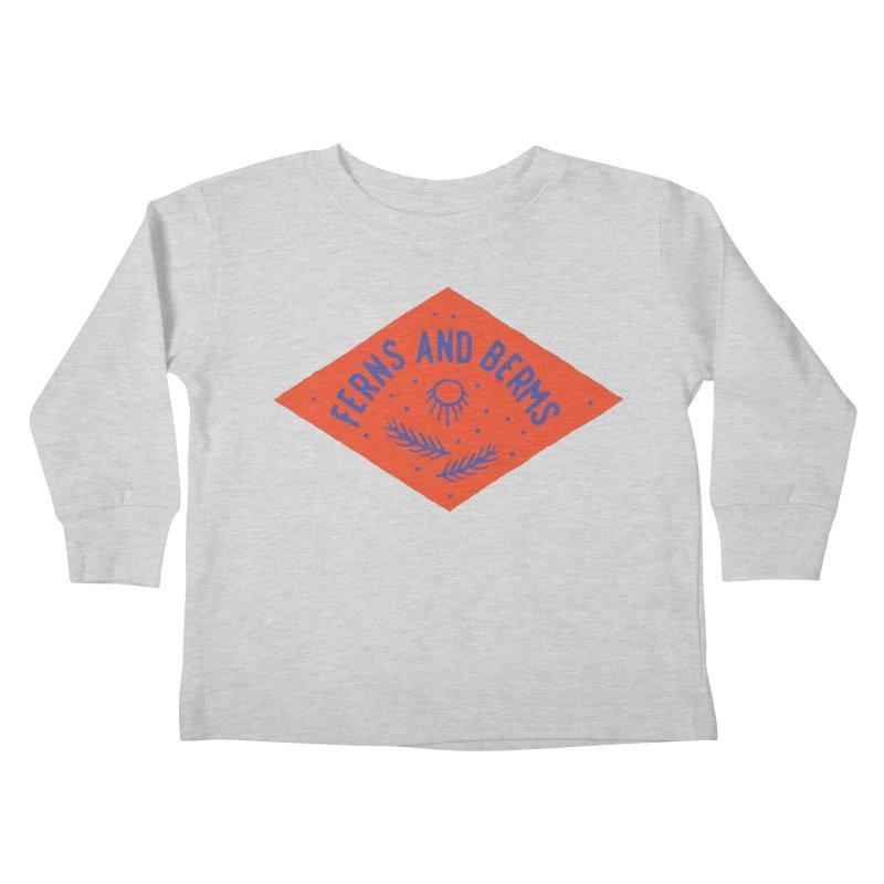 Ferns and Berms Diamond Kids Toddler Longsleeve T-Shirt by Broken & Coastal