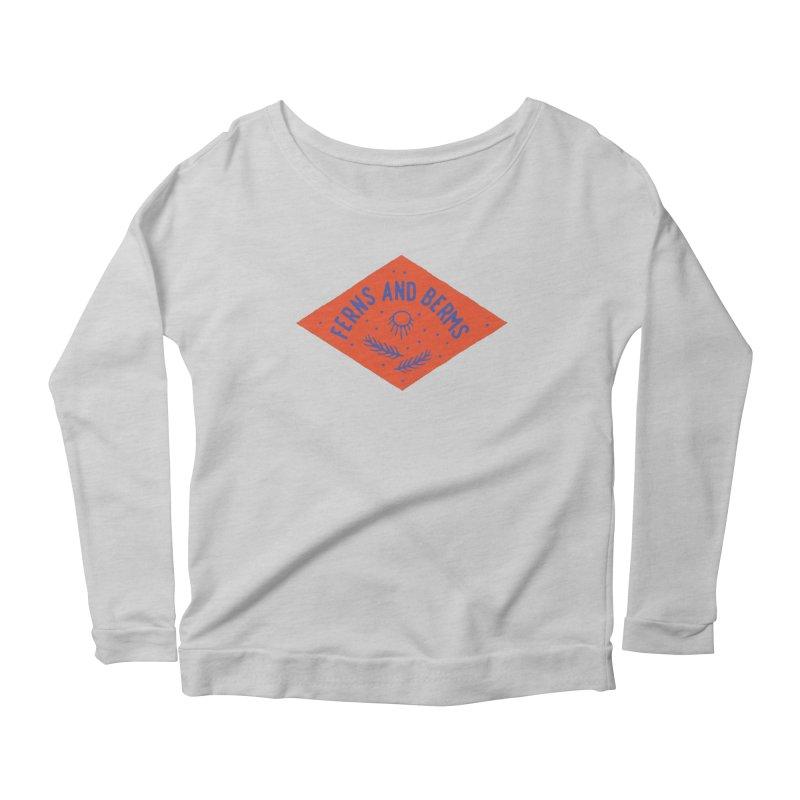 Ferns and Berms Diamond Women's Scoop Neck Longsleeve T-Shirt by Broken & Coastal