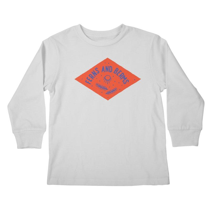 Ferns and Berms Diamond Kids Longsleeve T-Shirt by Broken & Coastal