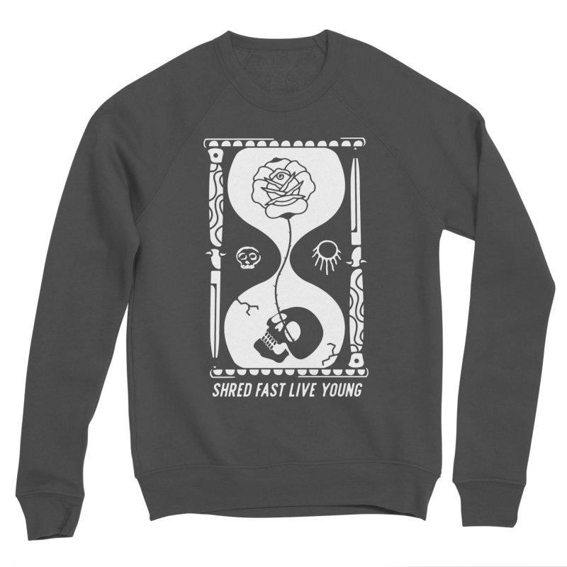 White Hourglass Men's Sponge Fleece Sweatshirt by Broken & Coastal