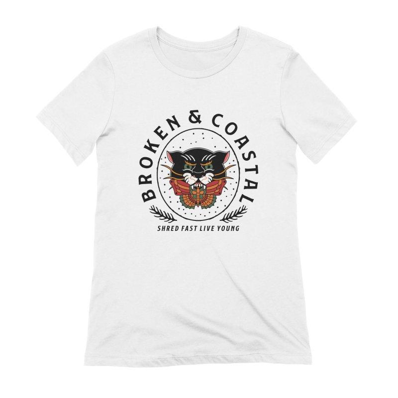 Broken Panther Women's T-Shirt by Broken & Coastal
