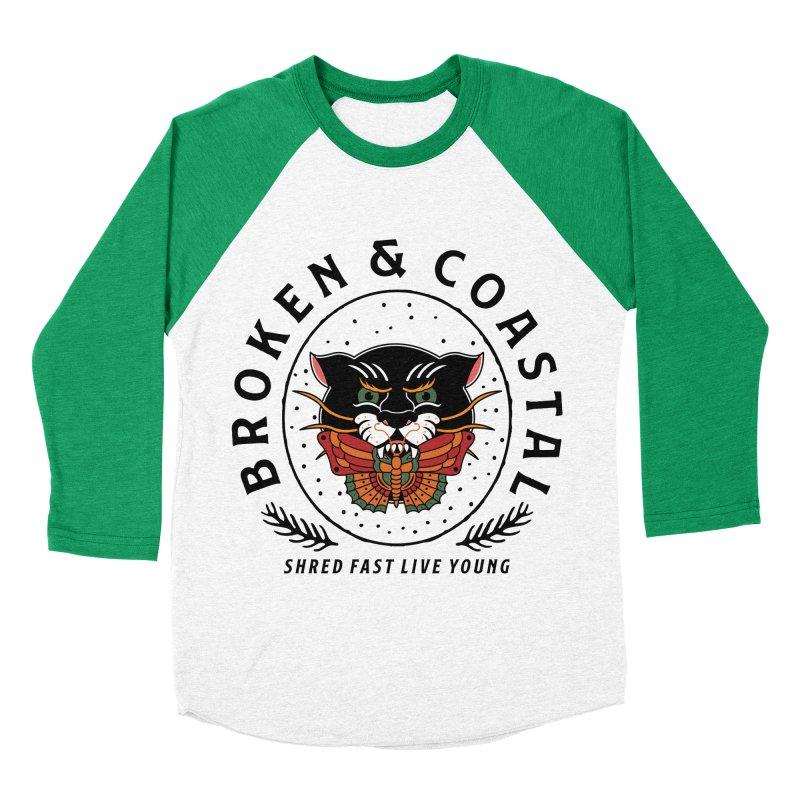 Broken Panther Men's Baseball Triblend Longsleeve T-Shirt by Broken & Coastal