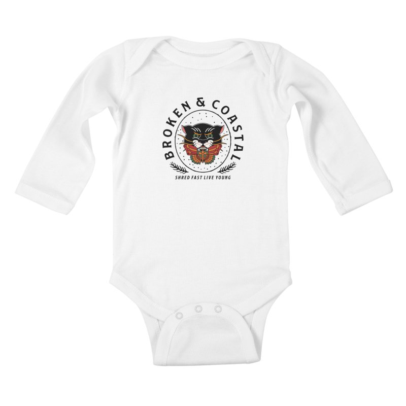 Broken Panther Kids Baby Longsleeve Bodysuit by Broken & Coastal