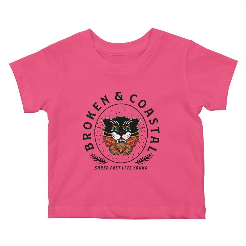 Broken Panther Kids Baby T-Shirt by Broken & Coastal