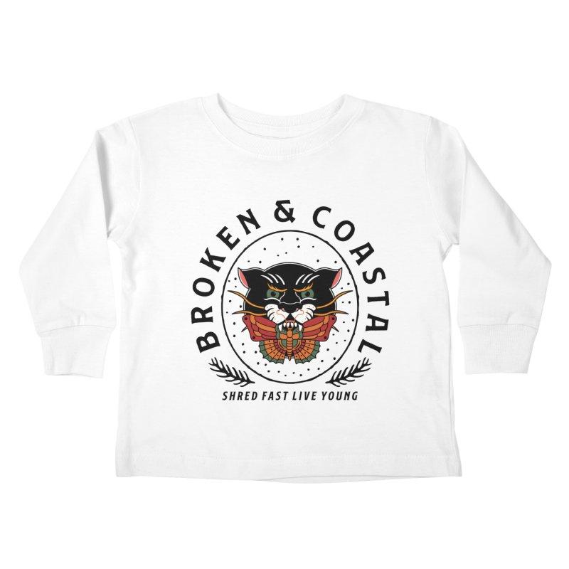 Broken Panther Kids Toddler Longsleeve T-Shirt by Broken & Coastal