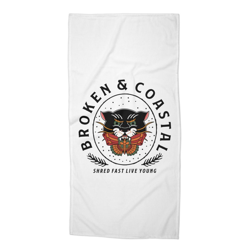 Broken Panther Accessories Beach Towel by Broken & Coastal