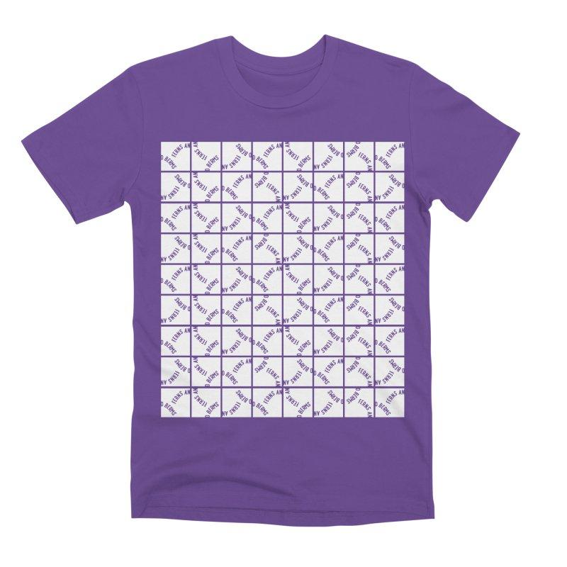 Ferns and Berms Pattern Men's Premium T-Shirt by Broken & Coastal