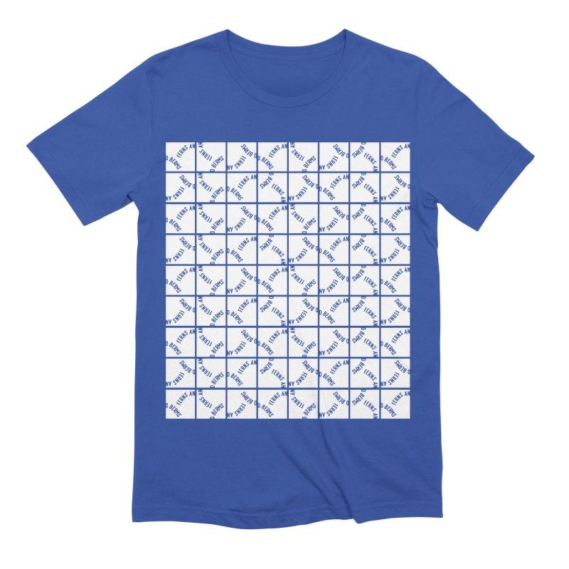 Ferns and Berms Pattern Men's Extra Soft T-Shirt by Broken & Coastal