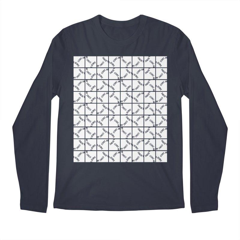 Ferns and Berms Pattern Men's Regular Longsleeve T-Shirt by Broken & Coastal