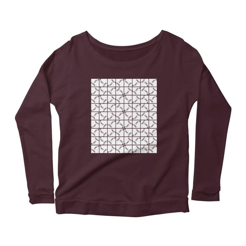 Ferns and Berms Pattern Women's Scoop Neck Longsleeve T-Shirt by Broken & Coastal