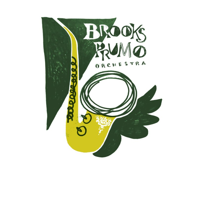 Sax (green background) by Brooks Prumo Orchestra's Shop