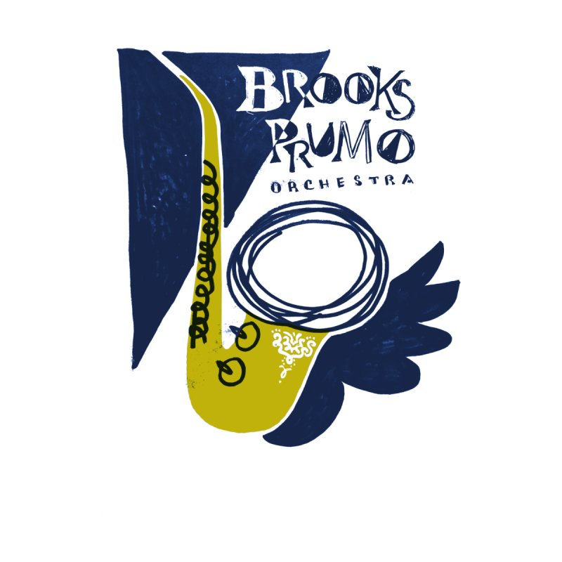 Sax (blue background)   by Brooks Prumo Orchestra's Shop