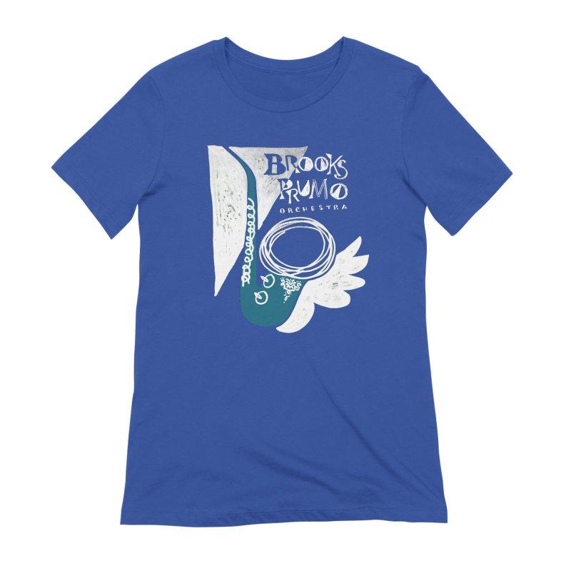 Sax (white background) Women's T-Shirt by Brooks Prumo Orchestra's Shop