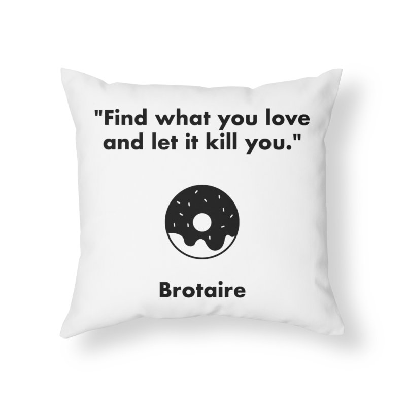 Donut Home Throw Pillow by Brotaire's Shop