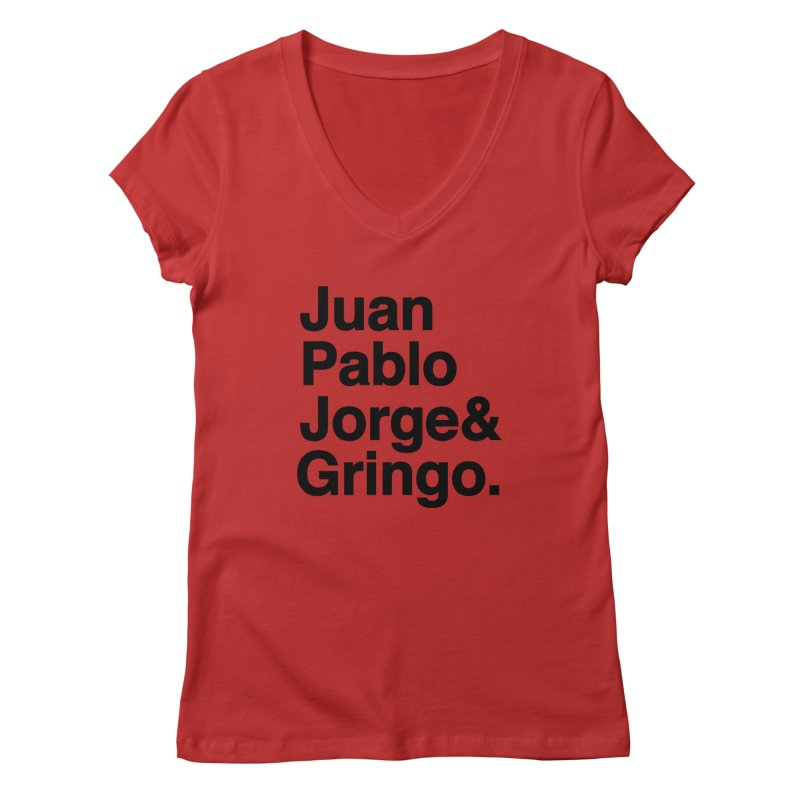 El Fabo Cuatro! Women's V-Neck by Brother Adam Design
