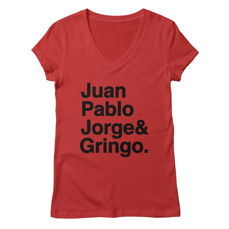 El Fabo Cuatro! Women's Regular V-Neck by Brother Adam Design