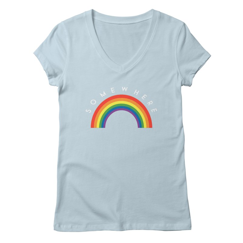 Over The Rainbow Women's Regular V-Neck by Brother Adam Design