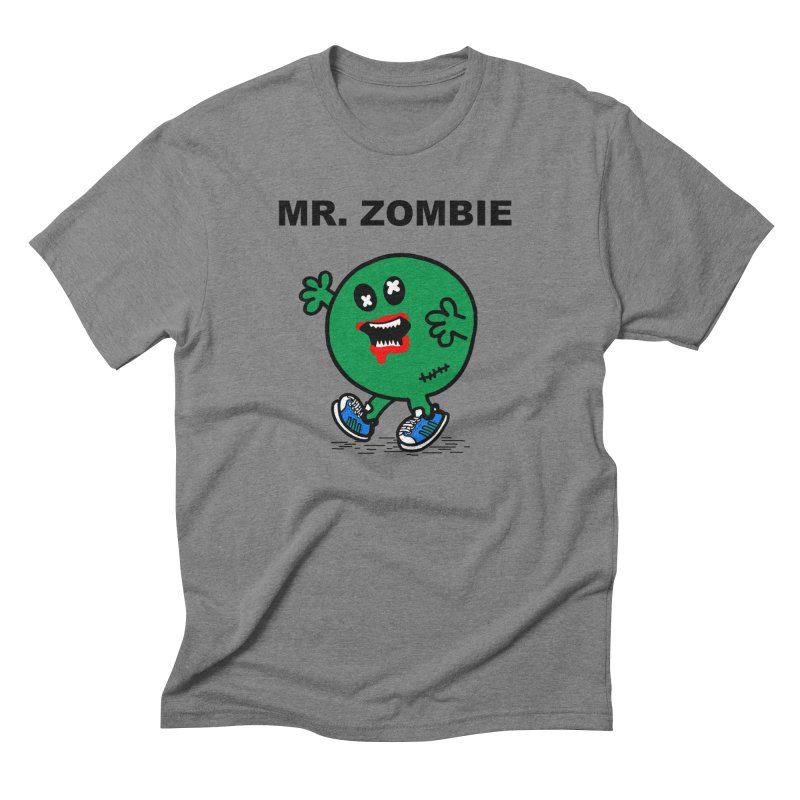 Mr Zombie Men's Triblend T-Shirt by Brother Adam Design