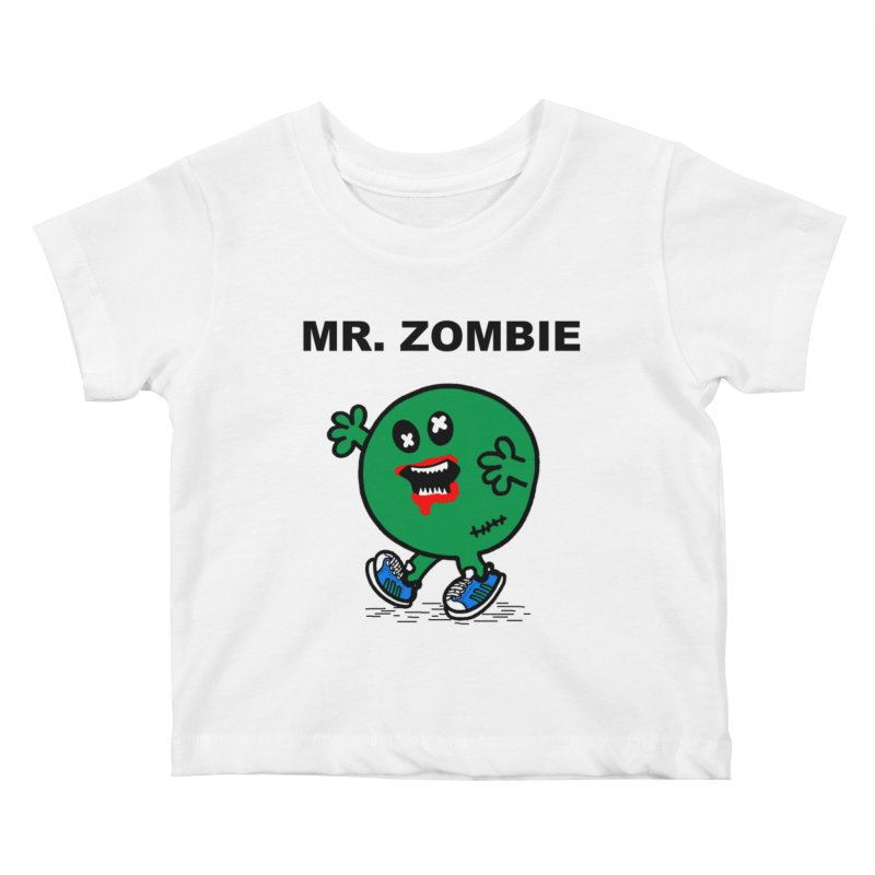 Mr Zombie Kids Baby T-Shirt by Brother Adam Design
