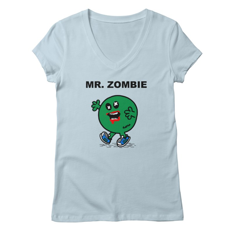 Mr Zombie Women's V-Neck by Brother Adam Design