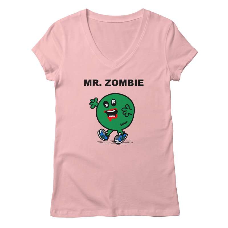 Mr Zombie Women's V-Neck by Brother Adam Design