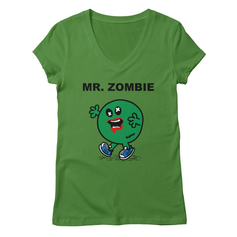 Mr Zombie Women's Regular V-Neck by Brother Adam Design