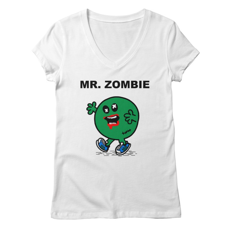 Mr Zombie Women's Regular V-Neck by Brother Adam Design