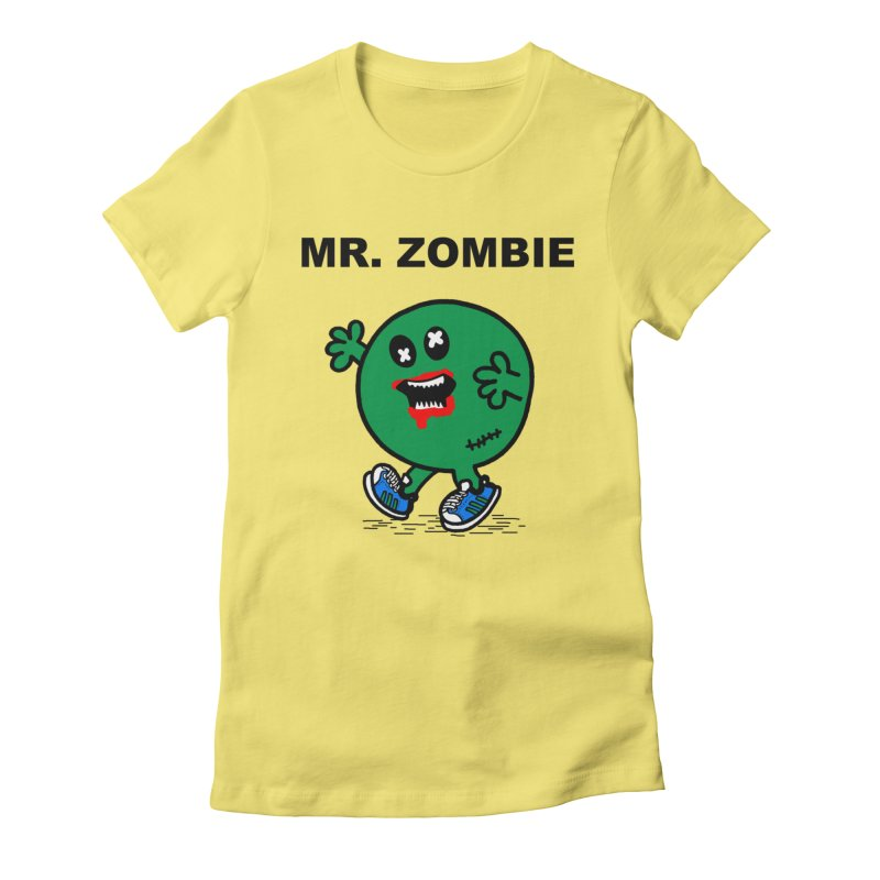 Mr Zombie Women's Fitted T-Shirt by Brother Adam Design