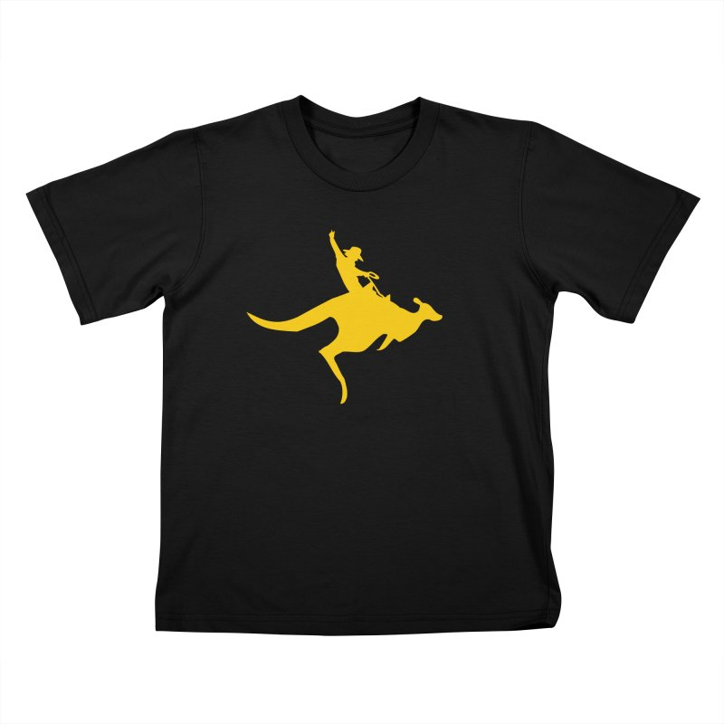 Real Cowboys Roodeo! Kids T-Shirt by Brother Adam Design