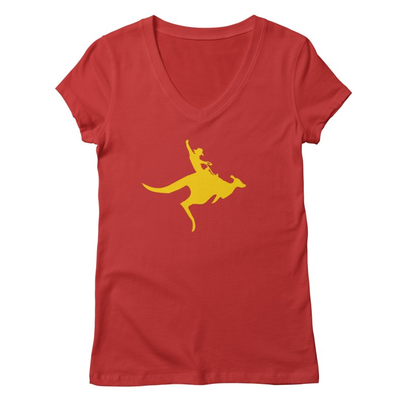 Real Cowboys Roodeo! Women's V-Neck by Brother Adam Design