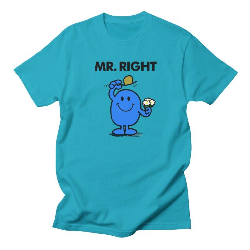 Mr Right Women's Regular Unisex T-Shirt by Brother Adam Design