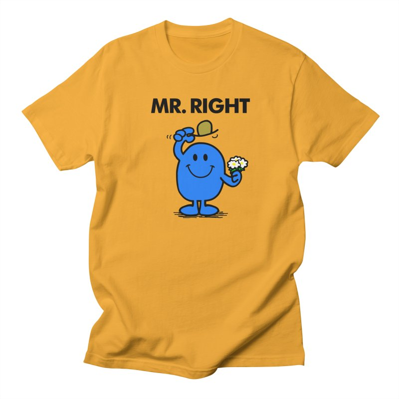 Mr Right Men's Regular T-Shirt by Brother Adam Design