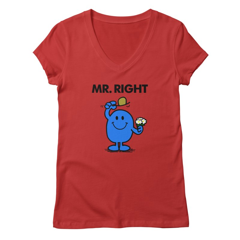 Mr Right Women's V-Neck by Brother Adam Design