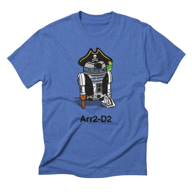 Pirate Droid... Arr2-D2 Men's Triblend T-Shirt by Brother Adam Design