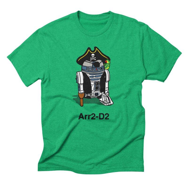 Pirate Droid... Arr2-D2 Men's T-Shirt by Brother Adam Design