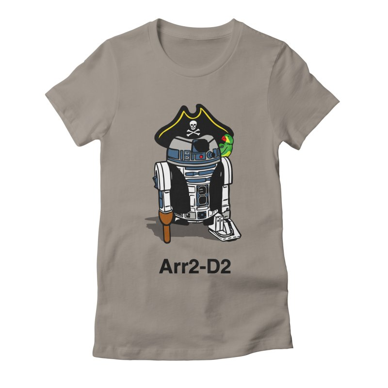 Pirate Droid... Arr2-D2 Women's Fitted T-Shirt by Brother Adam Design