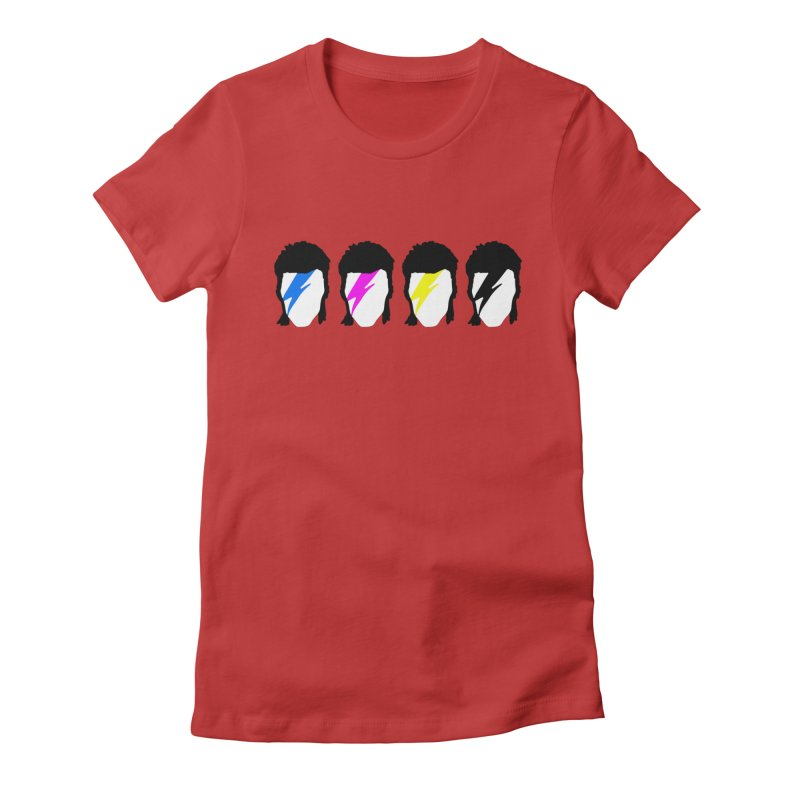 CMYK Stardust Women's Fitted T-Shirt by Brother Adam Design