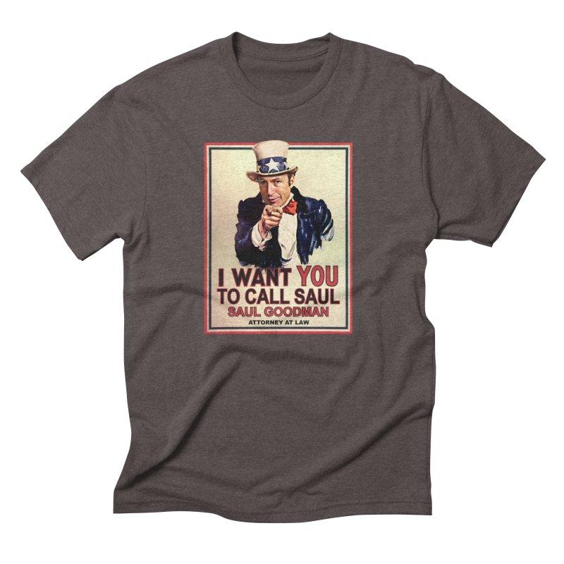 Better Call Saul! Men's Triblend T-Shirt by Brother Adam Design
