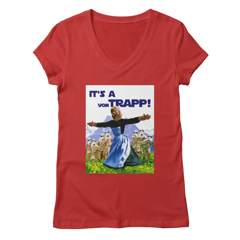 It's a Von Trapp! Women's Regular V-Neck by Brother Adam Design
