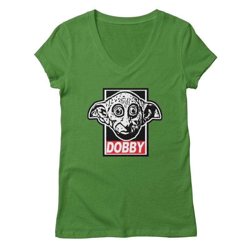 Dobby Women's V-Neck by Brother Adam Design