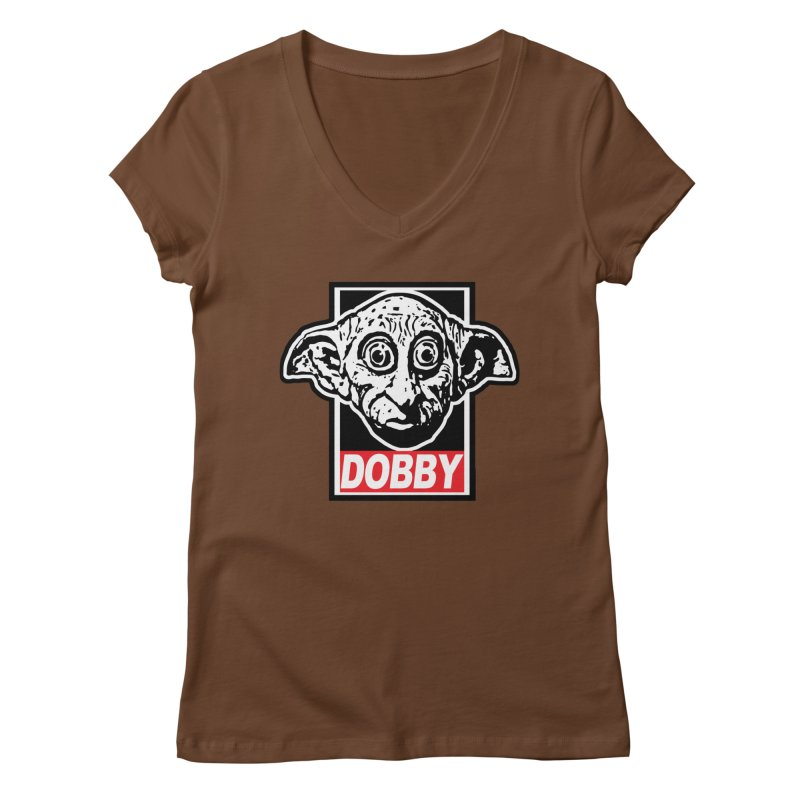 Dobby Women's Regular V-Neck by Brother Adam Design