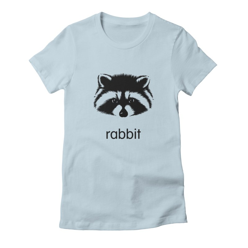 Rabbit Women's Fitted T-Shirt by Brother Adam Design