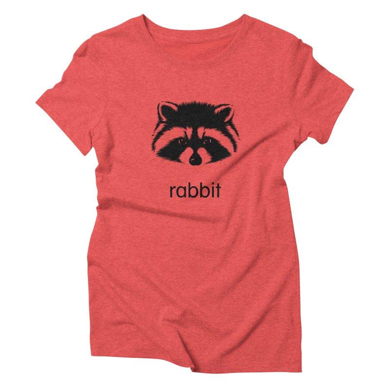 Rabbit Women's Triblend T-Shirt by Brother Adam Design