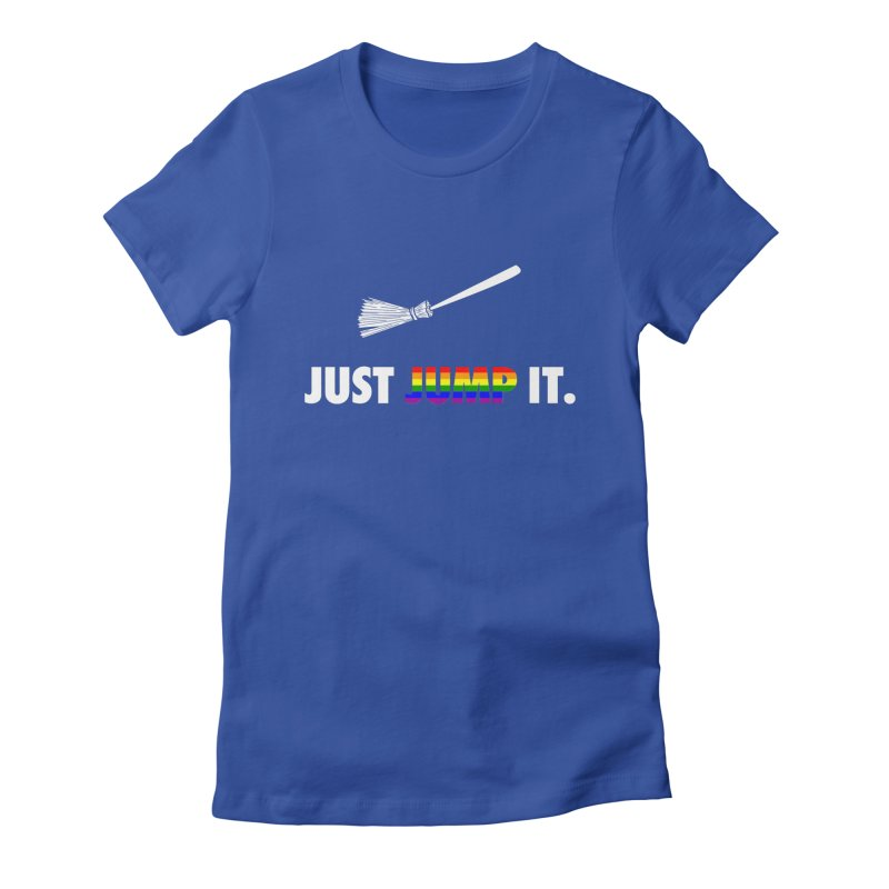 Jump The Broom - Pride Women's Fitted T-Shirt by Brother Adam Design
