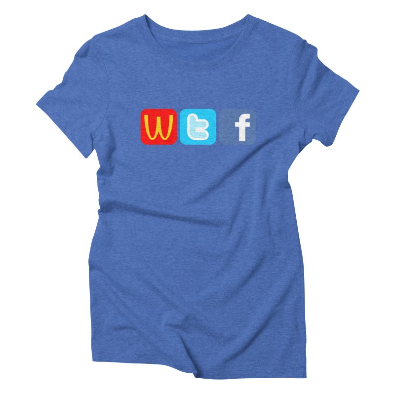 Signs of the Times... WTF! Women's Triblend T-Shirt by Brother Adam Design
